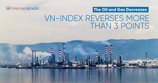 Oil and Gas decreases, VN-Index reverses more than 3 points